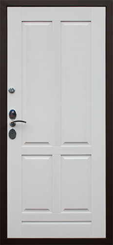 Дверь с массивом дуба и замком Моттура