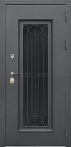 Стальная дверь с терморазрывом «Grand Lux light с окном и лазерной резкой» (заказная)