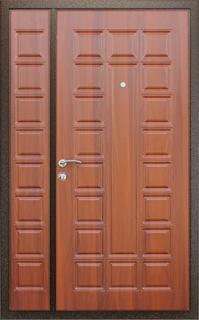 Двустворчатая дверь в тамбур с  отделкой