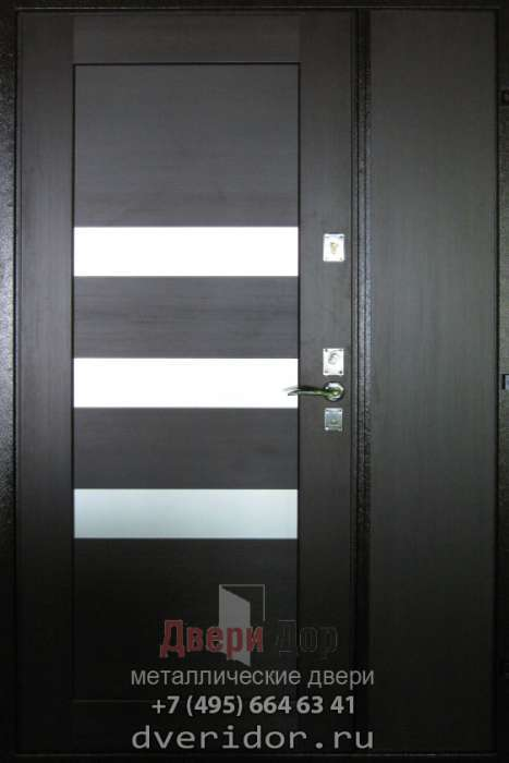 металлические двери с боковым остеклением